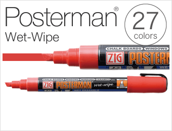 Posterman® Wet-Wipe 23colors